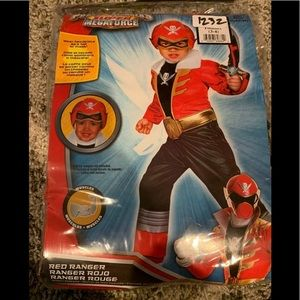 New Power Rangers Megaforce RED Ranger Costume 3-4